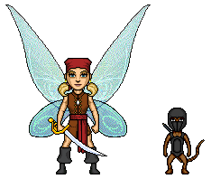 Pirate Faerie vs Monkey Ninja by UndefinedScott
