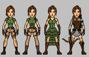 Lara Croft Set by UndefinedScott