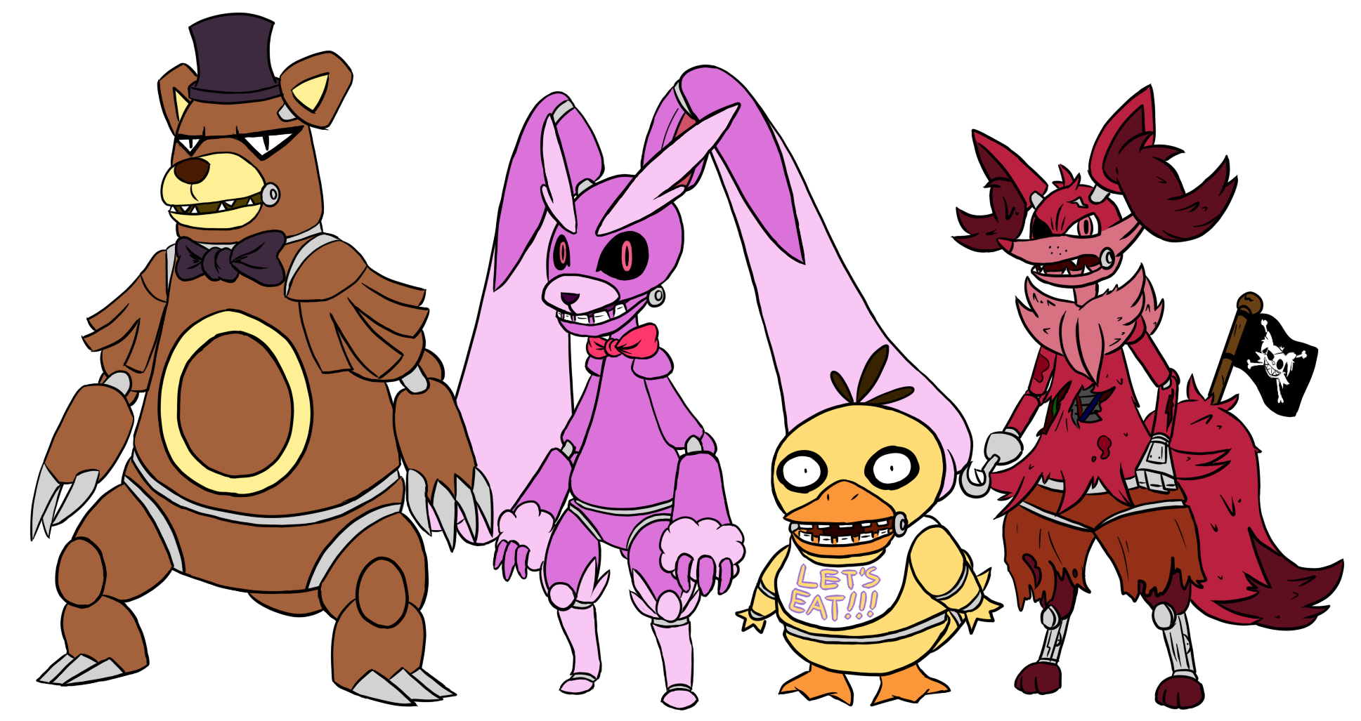 Fnaf pokemon by link8342 watch fan art digital art drawings games 2014