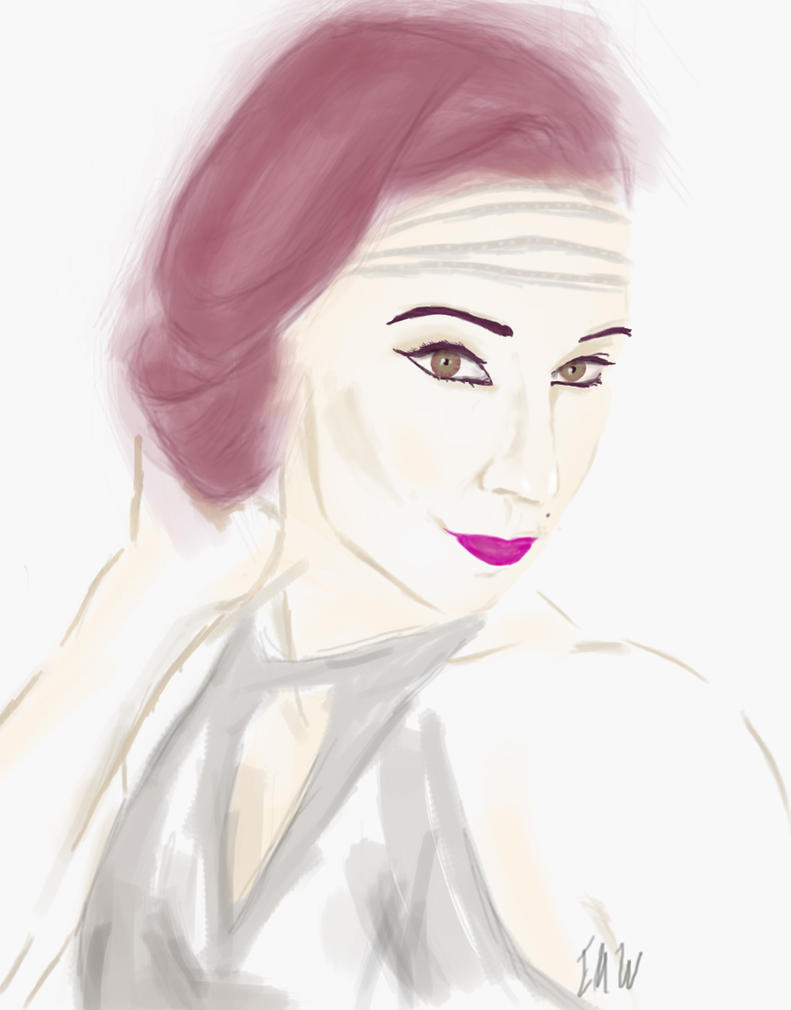 Portrait sketch - Robyn Adele Anderson (singer) by FlyingKnight