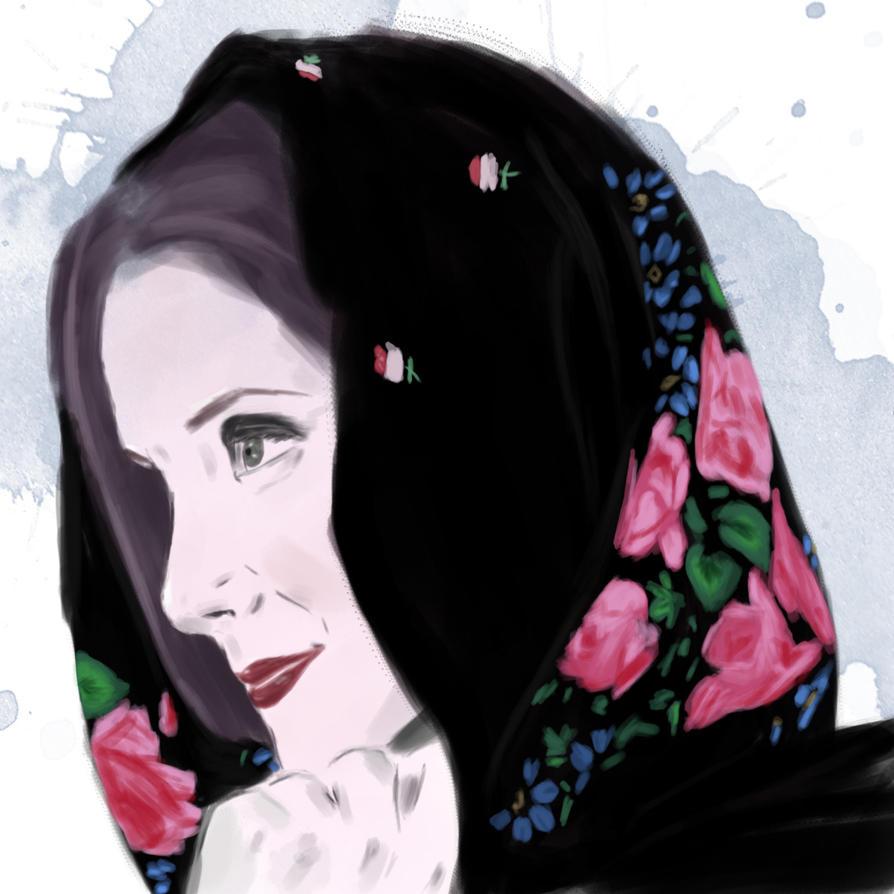 Ksenia - Portrait Sketch by FlyingKnight