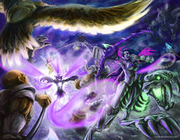 5v4 team battle by soaro