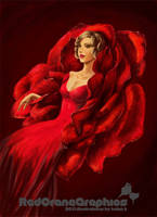 Lady in the Rose by soaro
