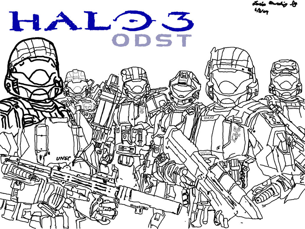 halo 3 odst coloring pages - photo#29