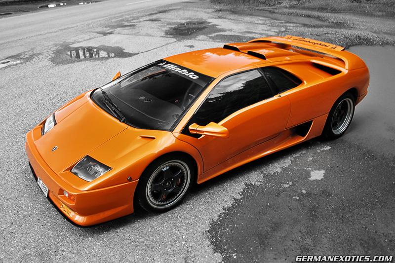 Orange Lamborghini Diablo Sv By Germanexotics On Deviantart