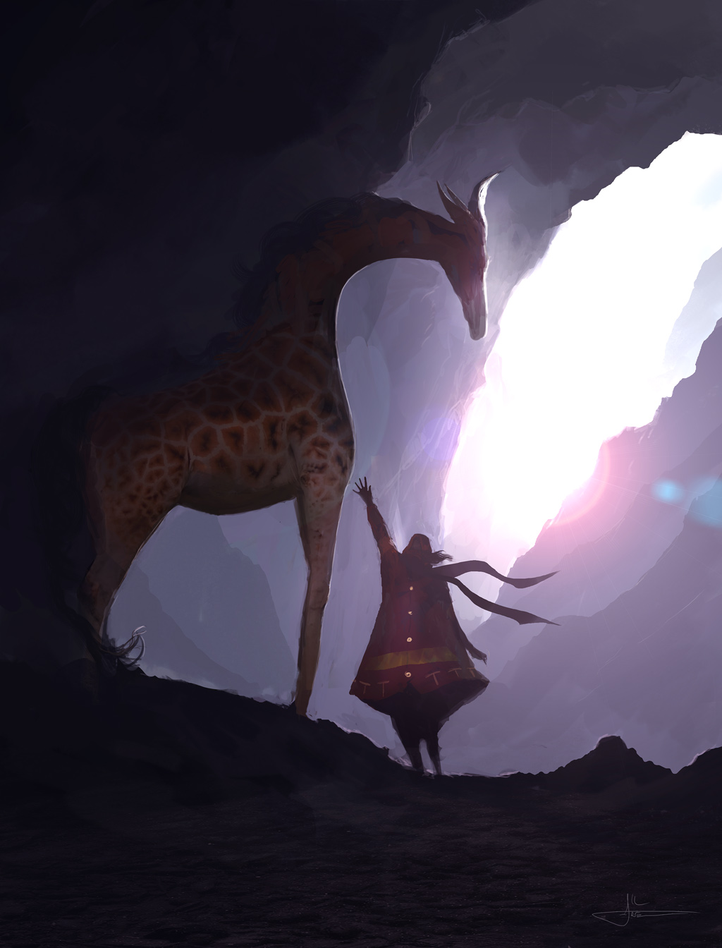 Ancient Giraffe by erenarik