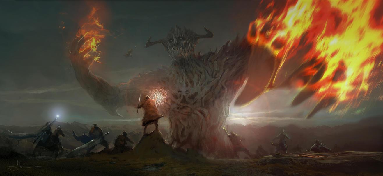 Wizards vs Titan by erenarik