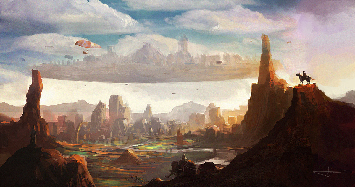 FloatingCity Speedpainting by erenarik