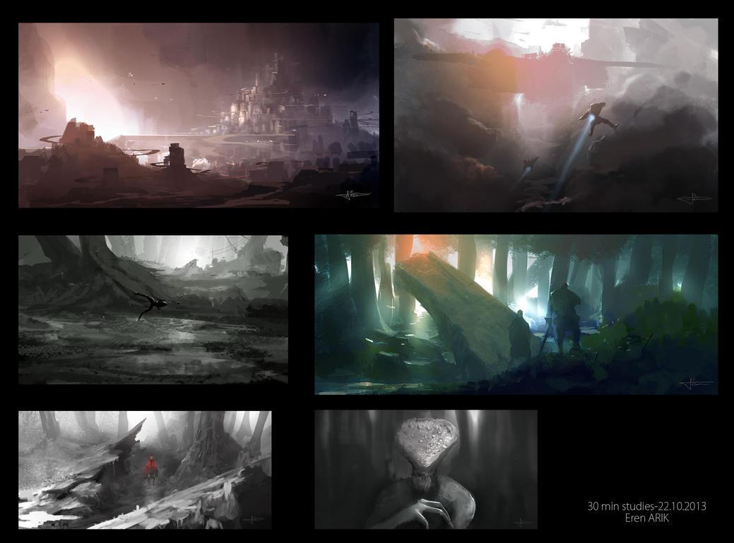30Min studies 1 by erenarik