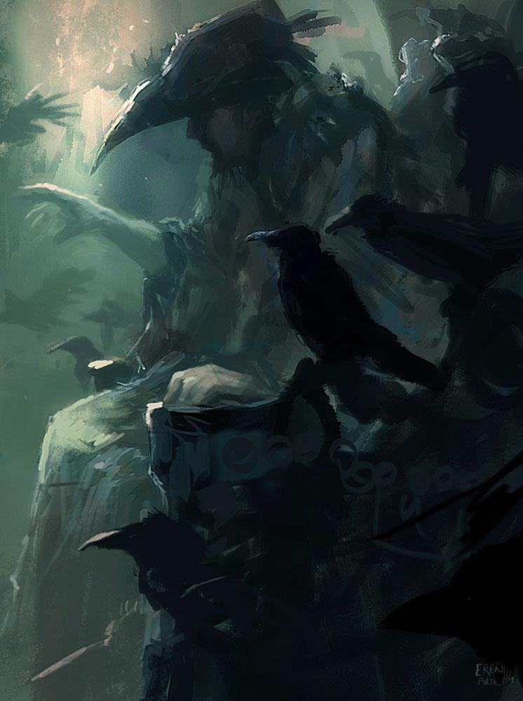Raven King Speedpainting by erenarik