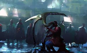 Harp Player Speedpainting