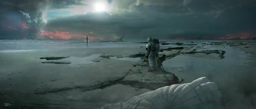 Kepler 186f Contact by erenarik