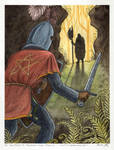 Sir Gawain Confronts the Green Knight