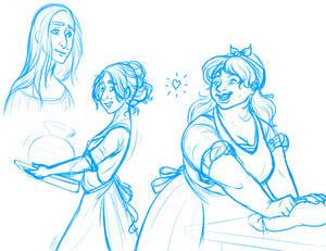 Fyla and Audrey Sketch