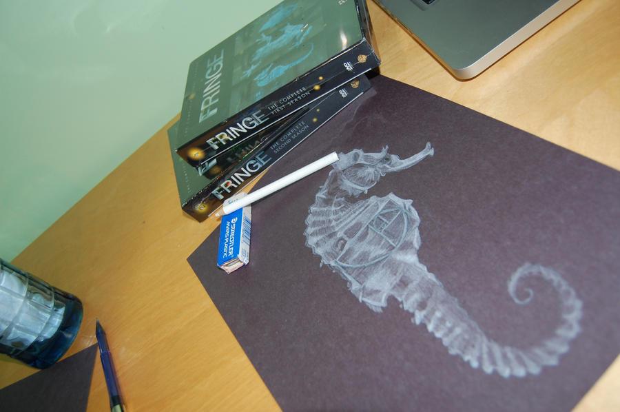 Fringe Seahorse Glyph by boarderlinerachel
