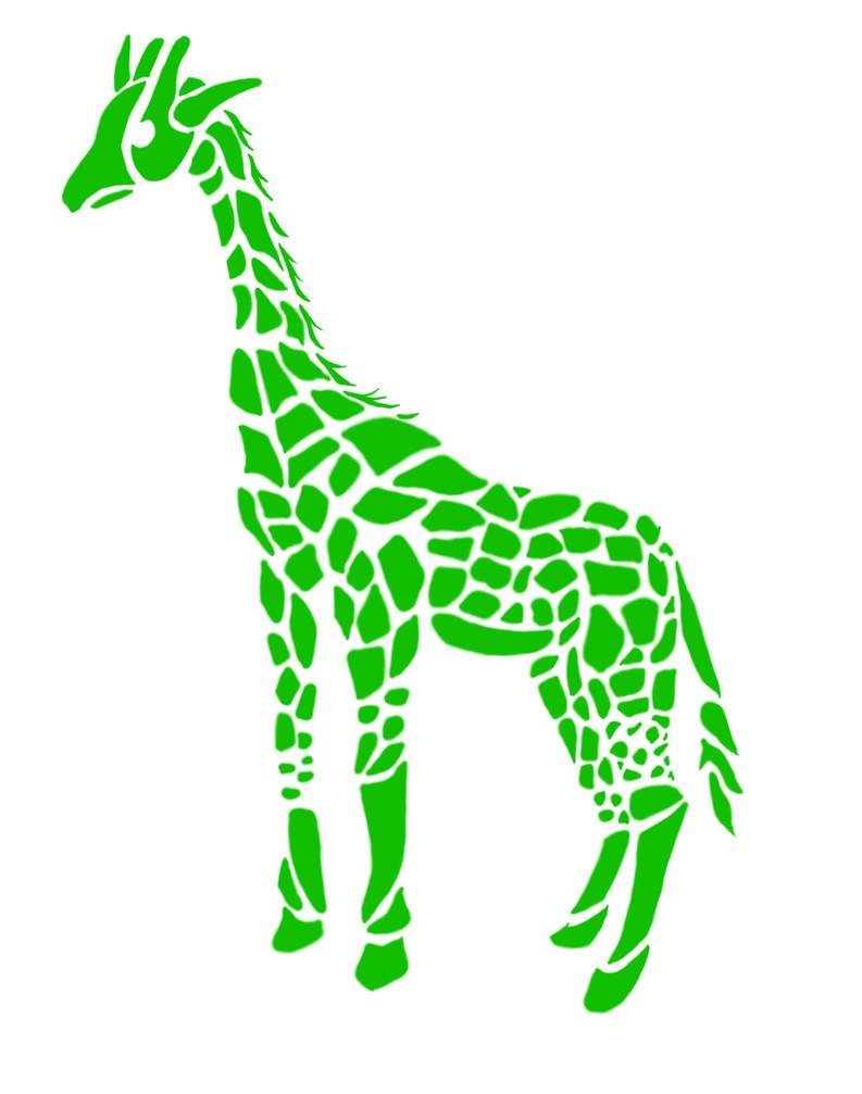 Tribal giraffe tattoo - photo#28