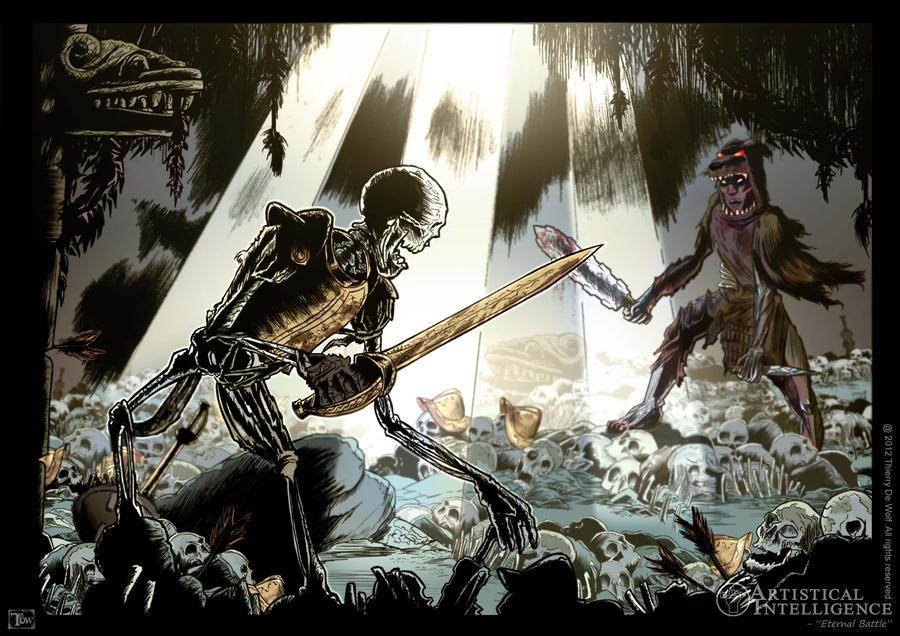 Eternal Battle by MasterChill