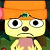 Parappa frowny face emote