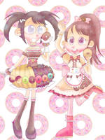 Delicious donut dresses [CROSSOVER] by JennALT-01angel