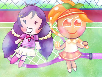 Tiny tennis players [Love Live/Cookie Run]