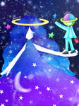 Up in the night sky [Pop'n Music]