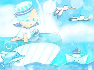 Inktober Day 12: Whale [Cookie Run]