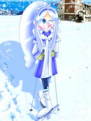 Hiumi goes skiing [Pop'n Music] by JennALT-01angel