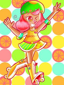 Groovy Grapefruit Girl [Cookie Run]