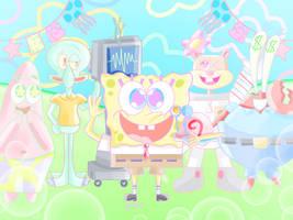 SpongeBob and Ocean Friends by JennALT-01angel