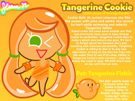 Cookie Run OC Week: Tangerine Cookie