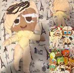 Handmade White Choco Cookie Plush [Cookie Run] by JennALT-01angel