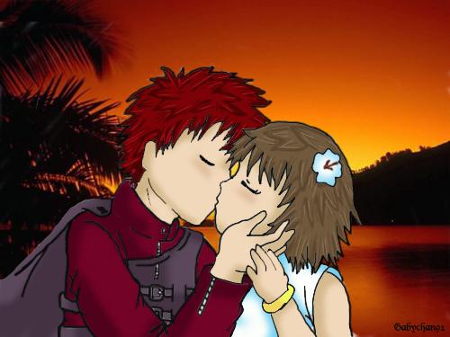 GaaraMatsuri first kiss color by Gabychan91 on DeviantArt
