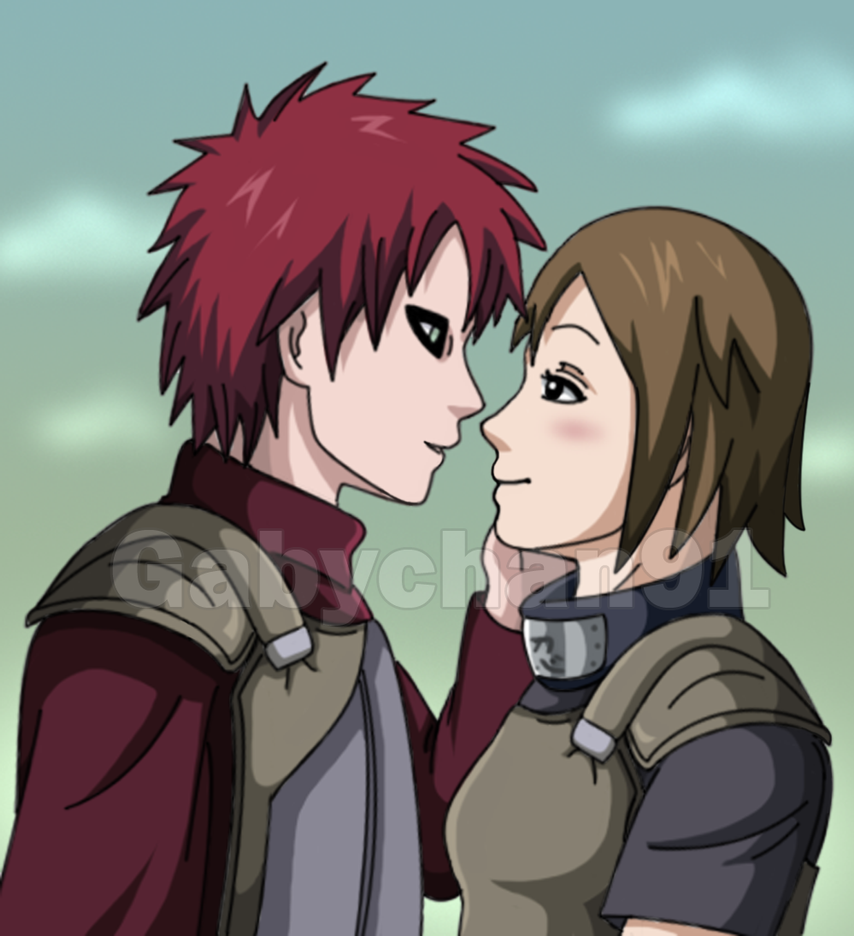 .:Love on the Battlefield :. by Gabychan91 on DeviantArt Gaara And Matsuri Kiss
