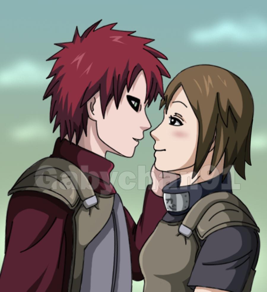 .:Love on the Battlefield :. by Gabychan91 on DeviantArt Gaara And Matsuri Kiss