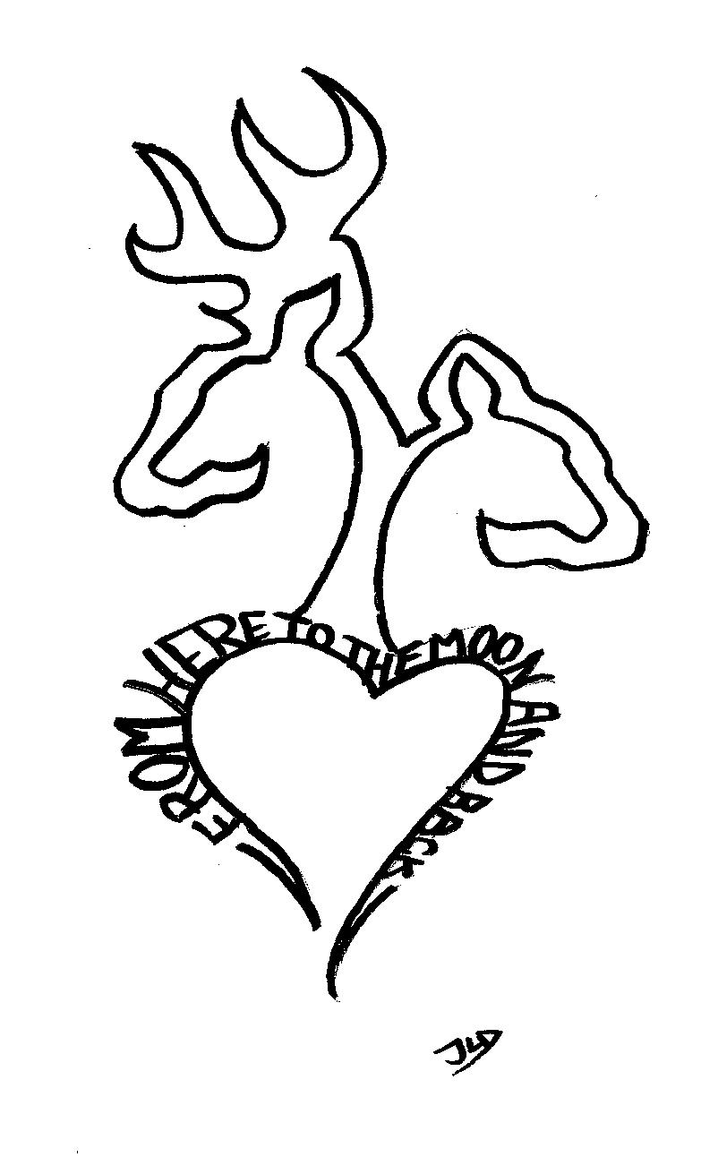 Browning love by boogiebear95 on deviantart for Browning coloring pages