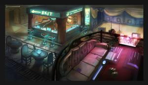 Sci- fi bar interior