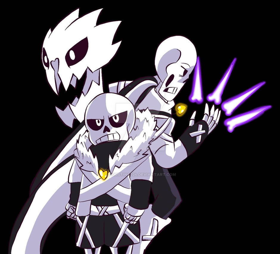 cross sans and x papyrus x tale underverse by agustin6024 on