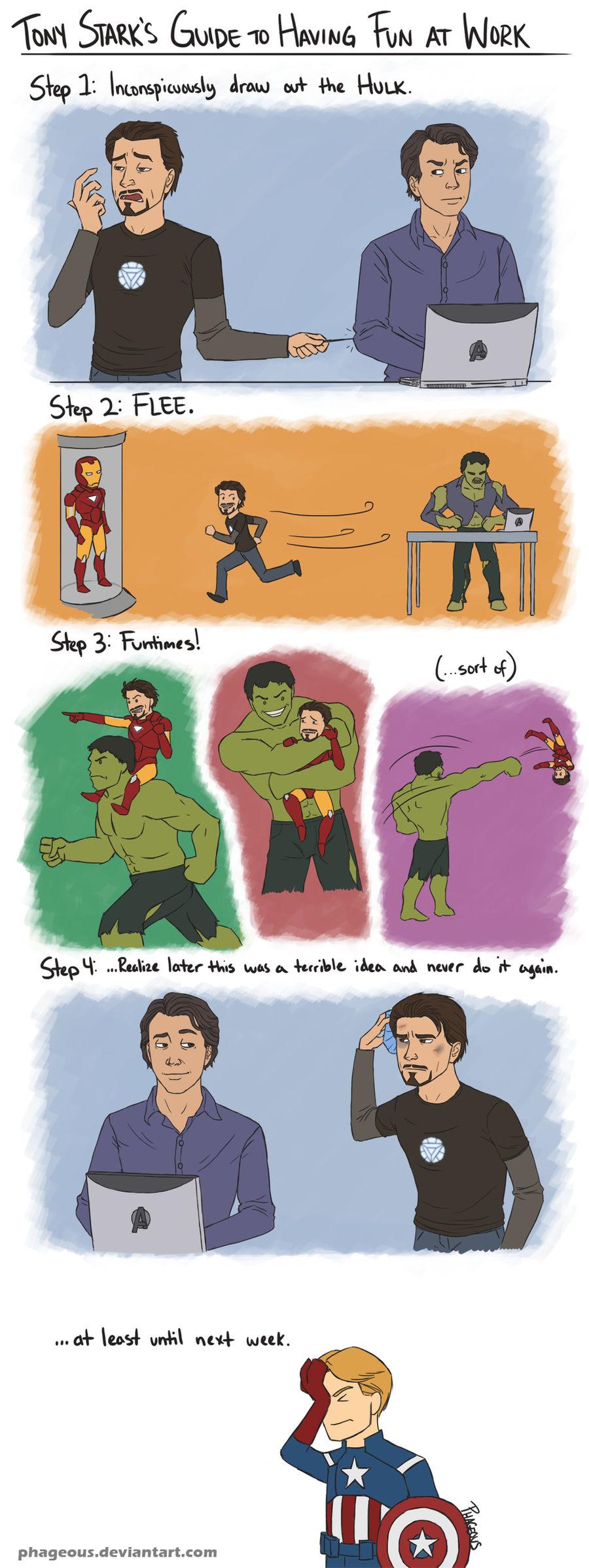Avengers: Tony and Bruce