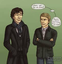 SH: Happy Sherlock by Phageous