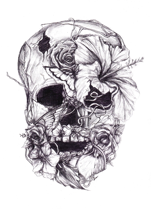 Black And Grey Skull Drawings Images amp Pictures Becuo