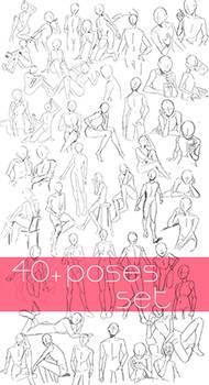 40+ Poses Set