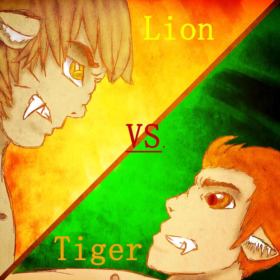 Lion vs. Tiger by icelavadokidoki on DeviantArt