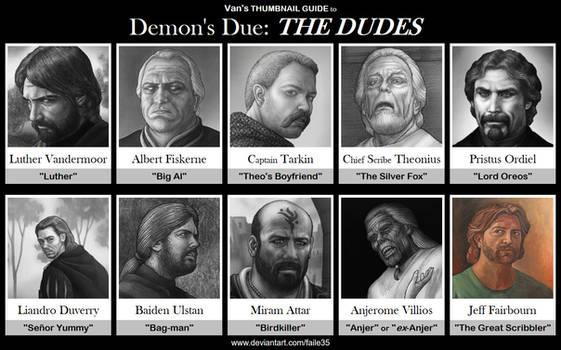 Van's THUMBNAIL GUIDE to Demon's Due: THE DUDES