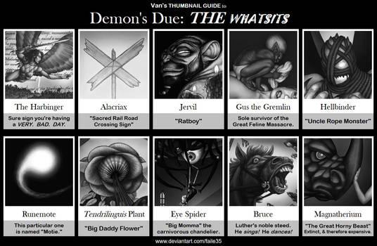 Van's THUMBNAIL GUIDE to Demon's Due: THE WHATSITS