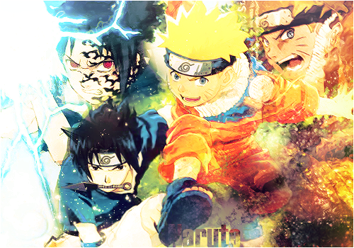 Tsubasa Style Naruto_vs_Sasuke_by_Tsubasart