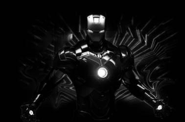 iron man bw