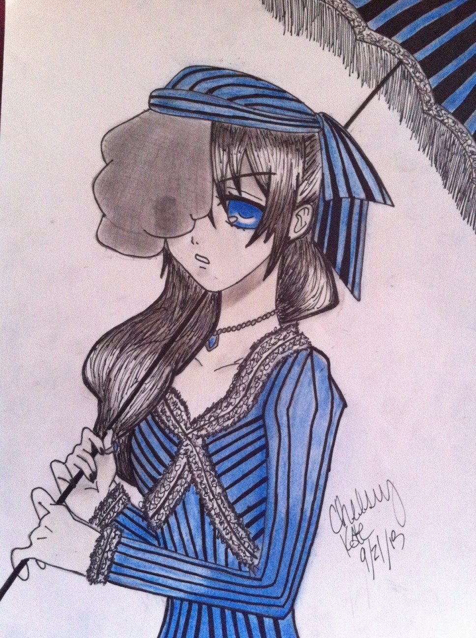'Lady' Ciel Phantomhive (Colored) by Chelseykate14