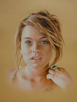 Lindsay Lohan Drawing by golfiscool