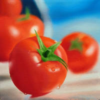 Tomato Oil Painting by golfiscool