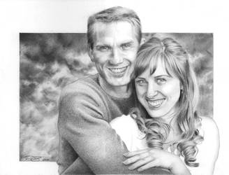 Couple Commission Portrait by golfiscool